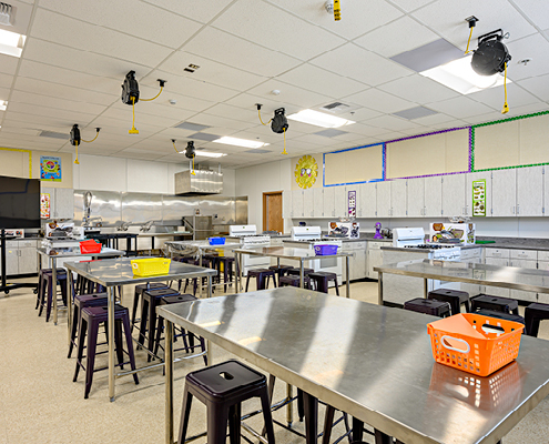 Science Classroom at new Academic Building Addition and Plaza