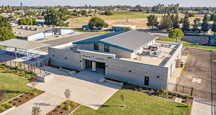 Aerial view of Sparkes ES New Multipurpose Building Addition
